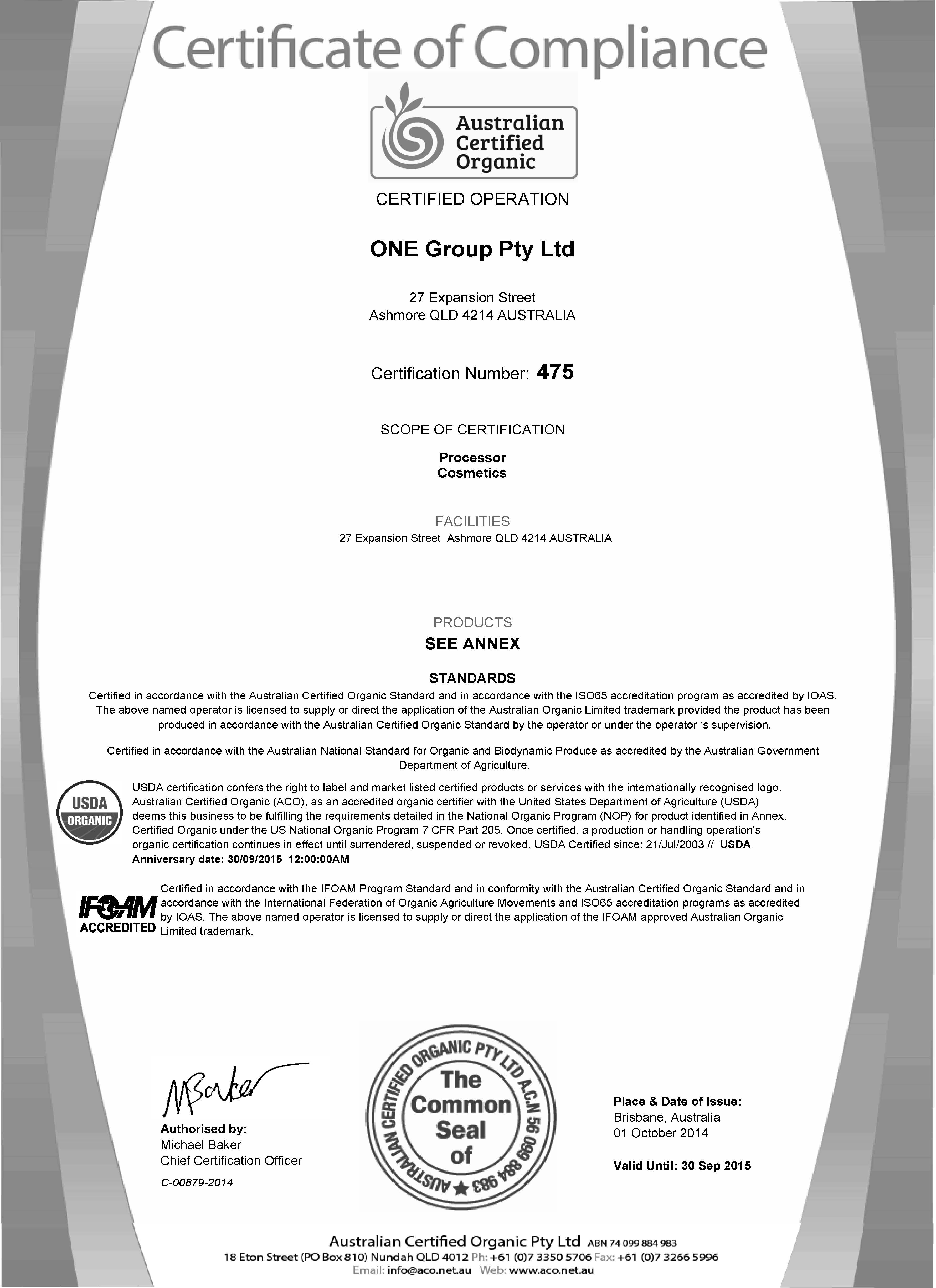 organic certification 3 essay 3 the concepts of standards, certification and labelling 31 standardization one of the main objectives of standardization is usually that everybody adheres to the same standards, ie the.